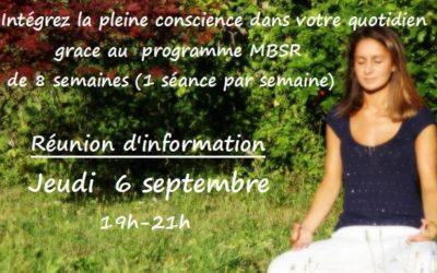 Réunion d'information du programme MBSR