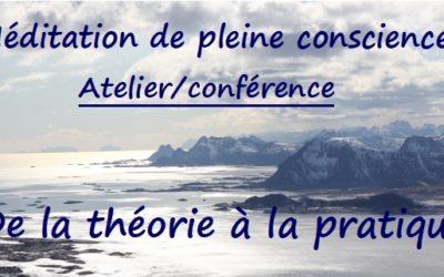 Atelier/Conférence et Prog. MBSR