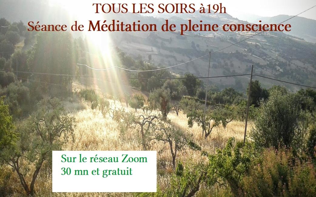 Soutien et partage de méditation sur le réseau Zoom