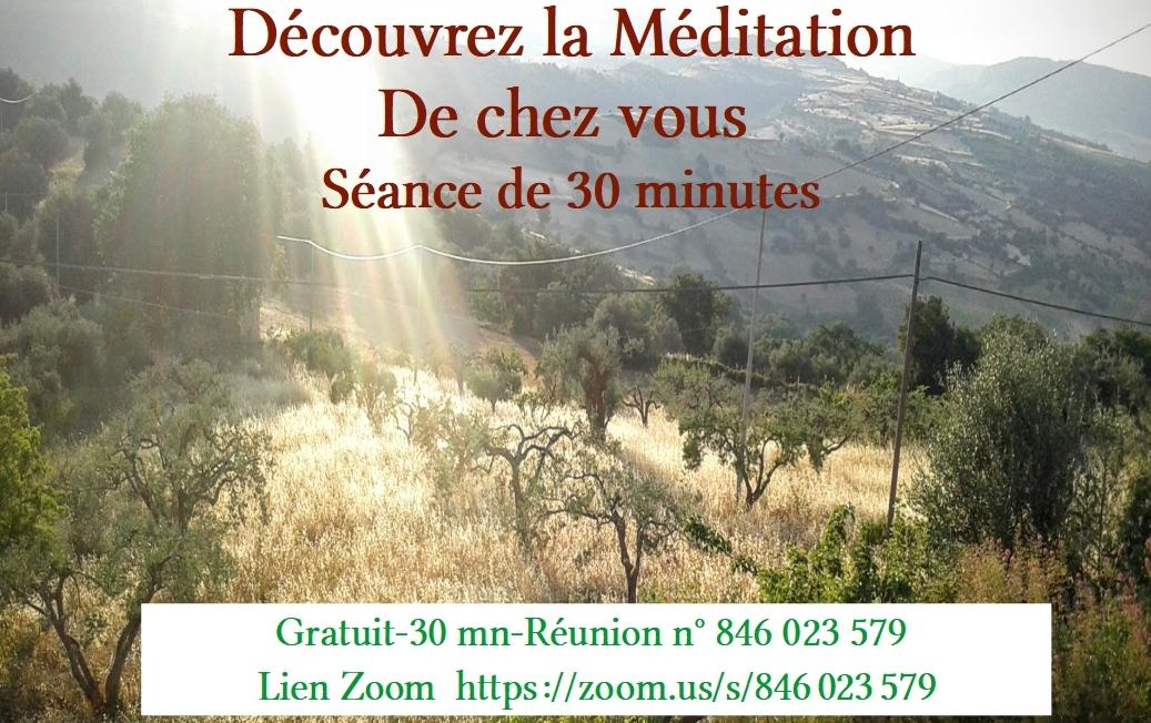 Découverte et partage de méditation sur le réseau Zoom